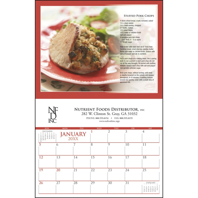 Custom Every Month Imprint  Appointment Calendar, Stitched