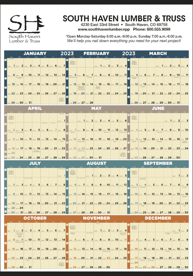 Large Full Year In View Calendar, 27