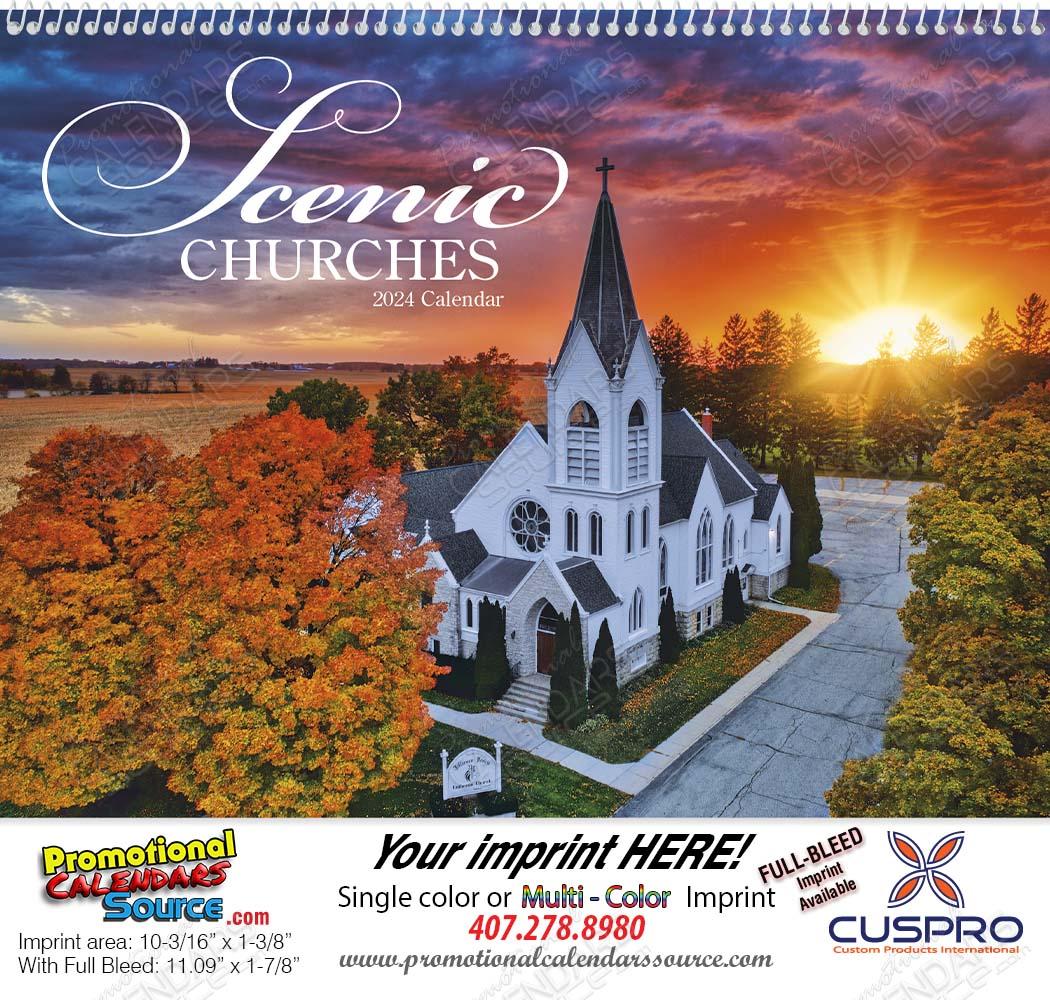 Scenic Churches - Promotional Calendar  Spiral