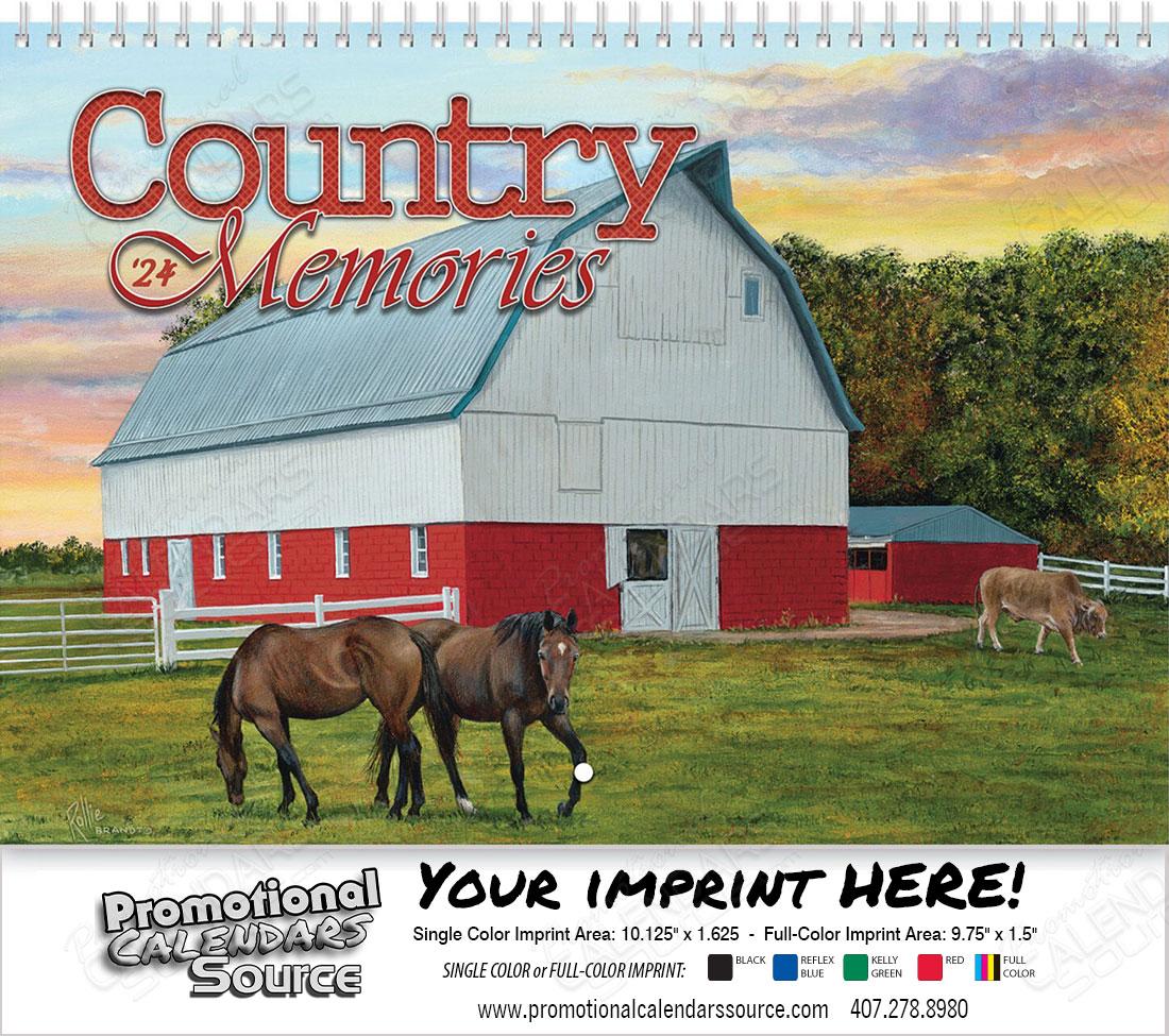 Country Memories Wall Calendar Spiral binding