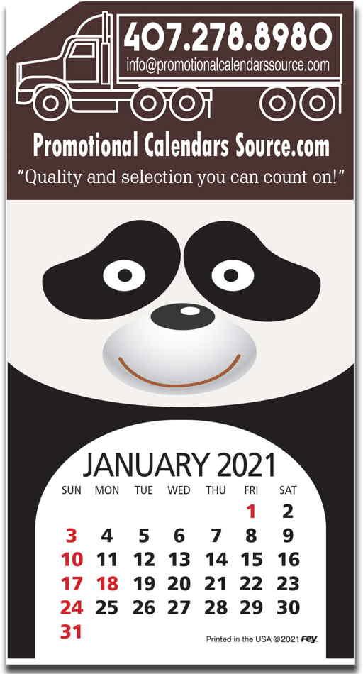 Animal Fun Stick-Up Calendar