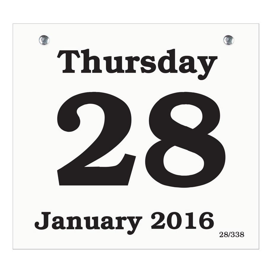 Daily Calendar Refill – Printable Editable Blank Calendar 2017