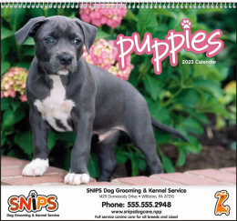 Puppies Promotional Calendar 2019