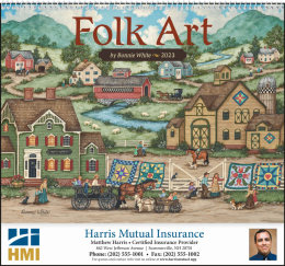 Folk Art Promotional Calendar 2019