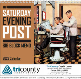 The Saturday Evening Post Big Block Memo Promotional Calendar 2019