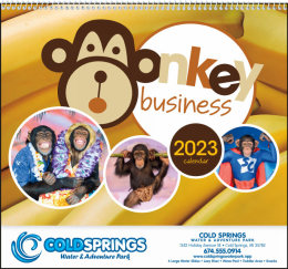 Monkey Business Promotional Calendar 2018