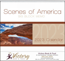 Scenes of America Big Block Memo Promotional Calendar 2018