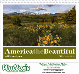 America the Beautiful with Recipes Promotional Calendar 2018