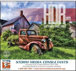 HDR High Dynamic Range Images Promotional Calendar 2019