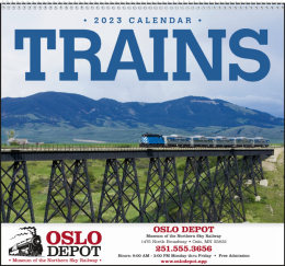 Trains Promotional Calendar 2019