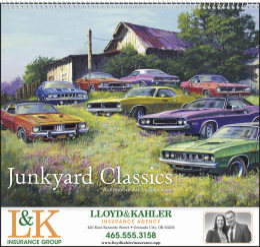 Junkyard Classics by Dale Klee Art Calendar 2019