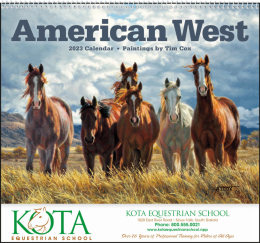 American West by Tim Cox Promotional Calendar 2019