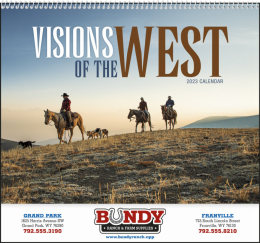 Visions of the West Promotional Calendar 2019