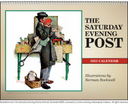 The Saturday Evening Post Illustrations Calendar 2019