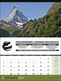 World Scenic large Promotional Calendar 2019