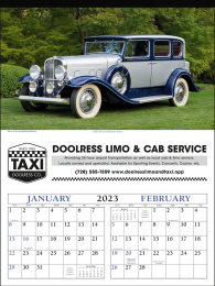2 Month View Calendar Antique Cars
