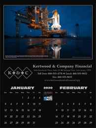 America in Space 2 Month View Promotional Calendar