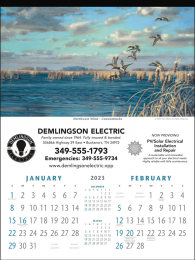 Two Month Promotional Calendar North American Waterfowl Art