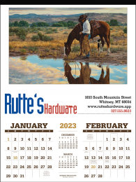 American West by Tim Cox 2 Month View Promotional Calendar