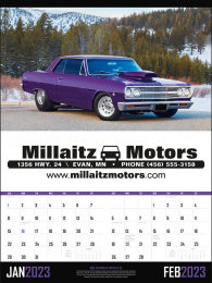 Muscle Cars Large 2 Month Promotional Calendar