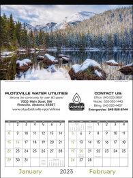 Scenes of America 2 Mont Per Page Large Calendar