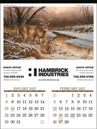 Wildlife Art 2 Month View Promotional Calendar