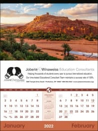 World Scenic Exec 2 Month Per Page Wall Calendar, Tinned