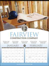 Custom 6-Sheet Commercial Calendar 17 x 23