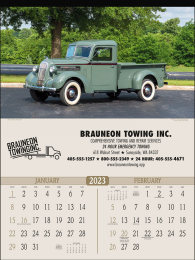 Antique Trucks 2 Month View Promotional Calendar