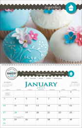 Multi Image Custom Wall Calendar with Spiral Binding, Size 11x17 (Min. 50 units)
