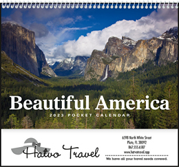 Beautiful America Pocket Promotional Calendar 2019
