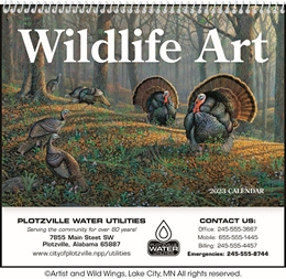 Wildlife Art Pocket Promotional Calendar 2019