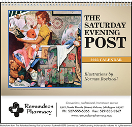 The Saturday Evening Post Pocket Promotional Calendar 2019