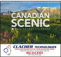 Canadian Scenic Pocket Promotional Calendar 2019