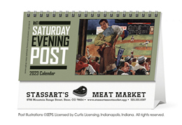 The Saturday Evening Post Promotional Desk Calendar