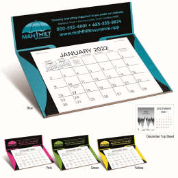 Curved Bright Colors Memo Desk Easel Calendar