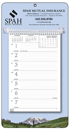 Promotional Weekly Memo Calendar 2018 - Mountains