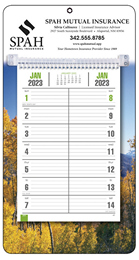 Bi-Weekly Memo Calendar  with Colorful Autumn Scene Background
