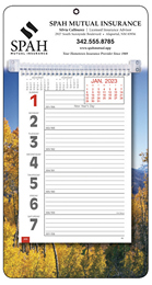 Big Numbers Promotional Weekly Memo Calendar 2019 - Autumn