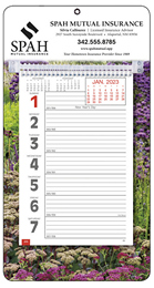 Big Numbers Promotional Weekly Memo Calendar 2019 - Garden
