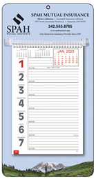 Big Numbers Promotional Weekly Memo Calendar  - Mountains