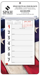Big Numbers Promotional Weekly Memo Calendar 2019 - Patriotic