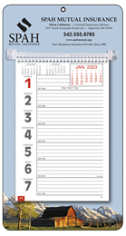 Big Numbers Promotional Weekly Memo Calendar 2019 - Rural