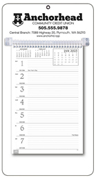 Promotional Weekly Memo Calendar 2019 - White