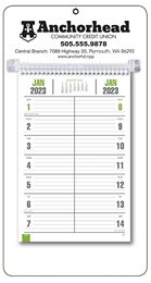 Bi-Weekly Promotional Memo Style Calendar - White