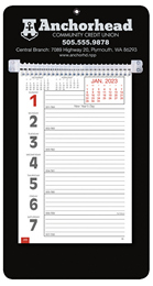 Promotional Big Numbers Weekly Memo Calendar 2018 - Black