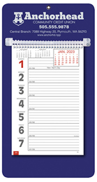 Promotional Big Numbers Weekly Memo Calendar 2018 - Blue