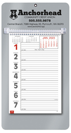 Promotional Big Numbers Weekly Memo Calendar 2019 - Silver