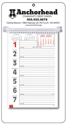 Promotional Big Numbers Weekly Memo Calendar 2018 - White