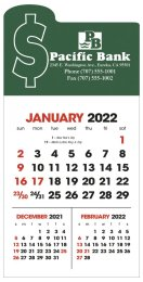 3-Month View Self-Adhesive Calendar